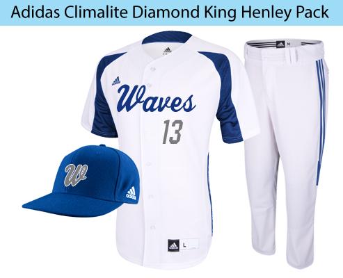 Adidas Men's Baseball Uniform Climalite Diamond King Henley Package