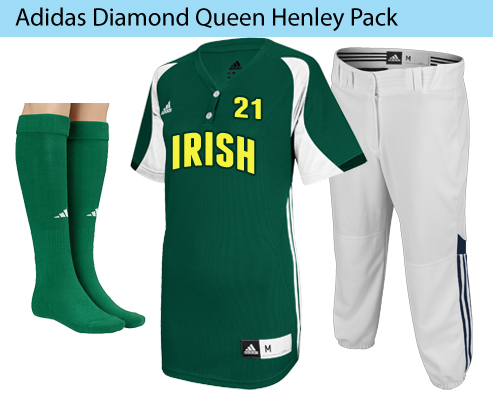 Women's Adidas Diamond Queen Henley Fastpitch Softball Uniforms