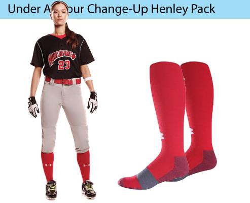 Women's Under Armour Change-Up Henley Softball Uniforms