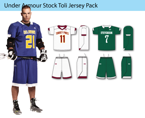 Men's Under Armour Stock Toli Lacrosse Uniforms