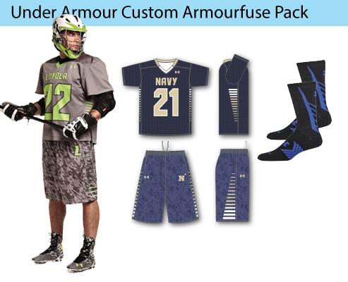Men's Under Armour Custom Armourfuse Lacrosse Uniforms