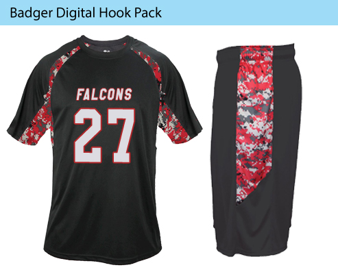 Men's Badger Digital Hook Lacrosse Uniforms