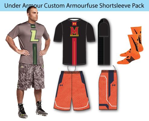 Men's Under Armour Custom Armourfuse Shortsleeve Lacrosse Uniforms