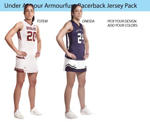 Women's Under Armour Armourfuse Racerback Lacrosse Uniforms