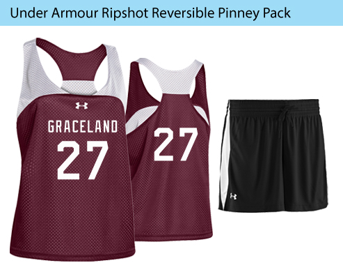 Women's Under Armour Ripshot Reversible Pinney Lacrosse Uniforms