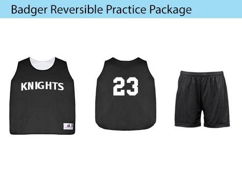 Women's Badger Reversible Practice Basketball Uniforms