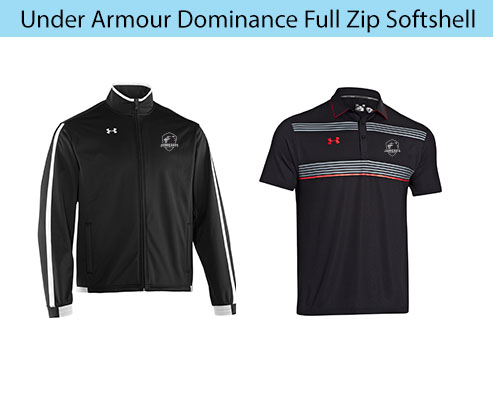 Men's Under Armour Dominance Full Zip Softshell Jacket Coaching Apparel