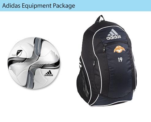 Women's Adidas Havoc Soccer Uniform, Pants, Cleat, Soccer Ball, Backpack