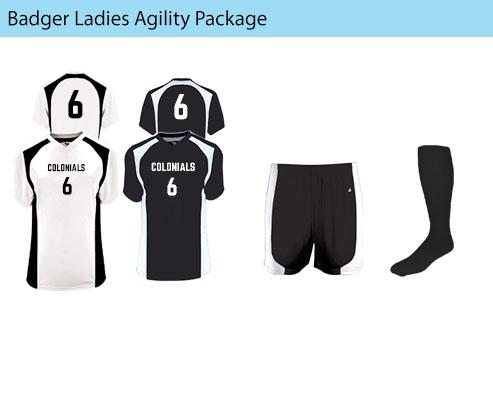 Women's Badger Agility Soccer Uniforms