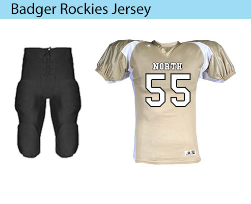Badger Sport Rockies Football Jersey and  Stretch Football Pant