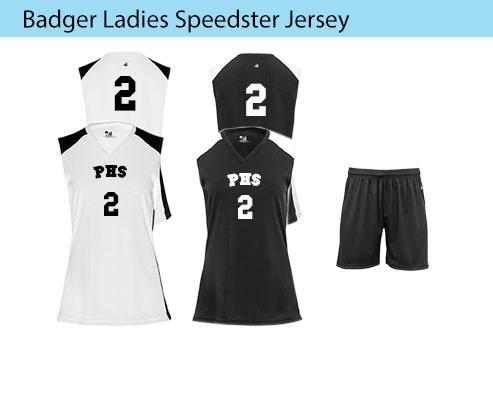 Women's Badger Speedster Basketball Uniforms