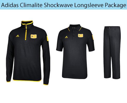 Men's Adidas Climalite Shockwave Sideline Long Sleeve Coaching Apparel