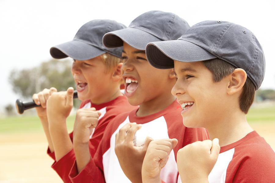 Boys In Baseball Uniform