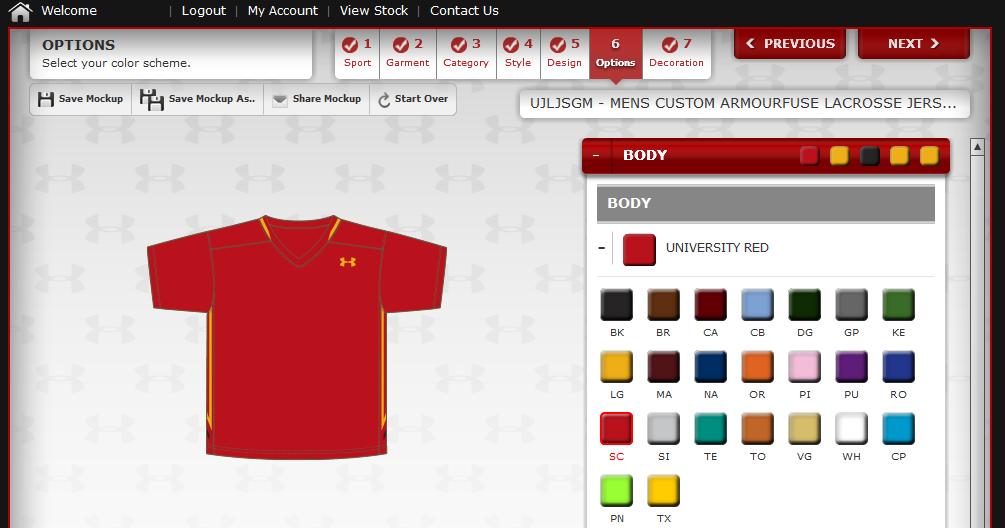 Custom Under Armour Jersey2