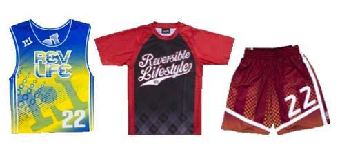 Reversible Lifestyle Customizable Basketball Uniforms