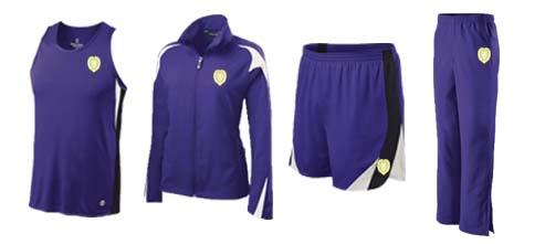 Women's Holloway Vertical Singlet Track and Field Uniforms and Illusion Knit Jacket and Pants