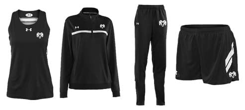 Women's Under Armour Breakaway Singlet and Campus Warm-Up Track and Field Uniforms
