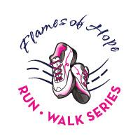 Gloria Gemma Foundation's Flames of Hope Run/Walk Series logo