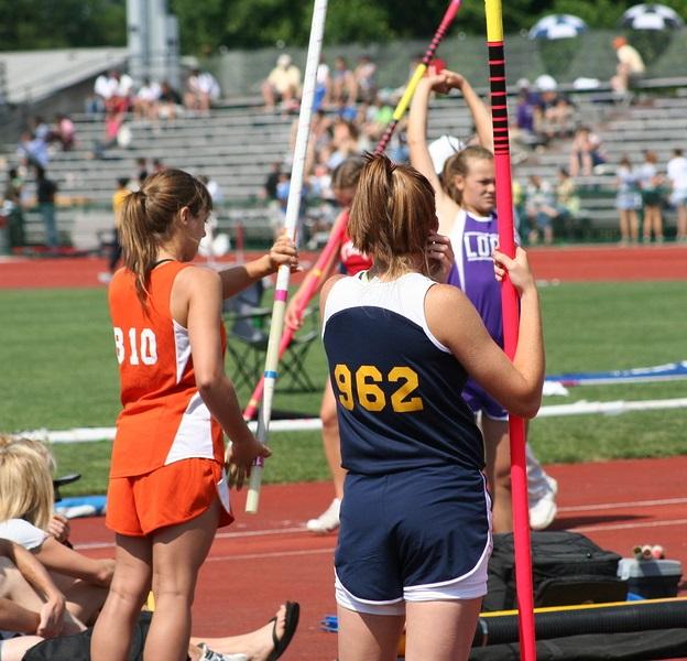 High school track girls team uniforms
