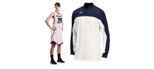 Women's Under Armour Stock Patterson Racerback Basketball Uniforms and Lottery Shooter Shirt