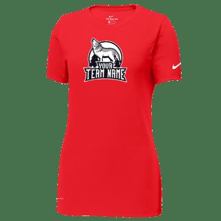 Nike Ladies Dri-FIT CottonPoly Scoop Neck Tee