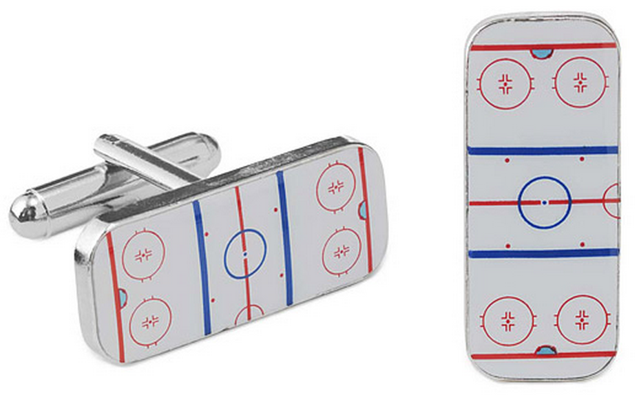 hockey cufflinks as hockey gifts