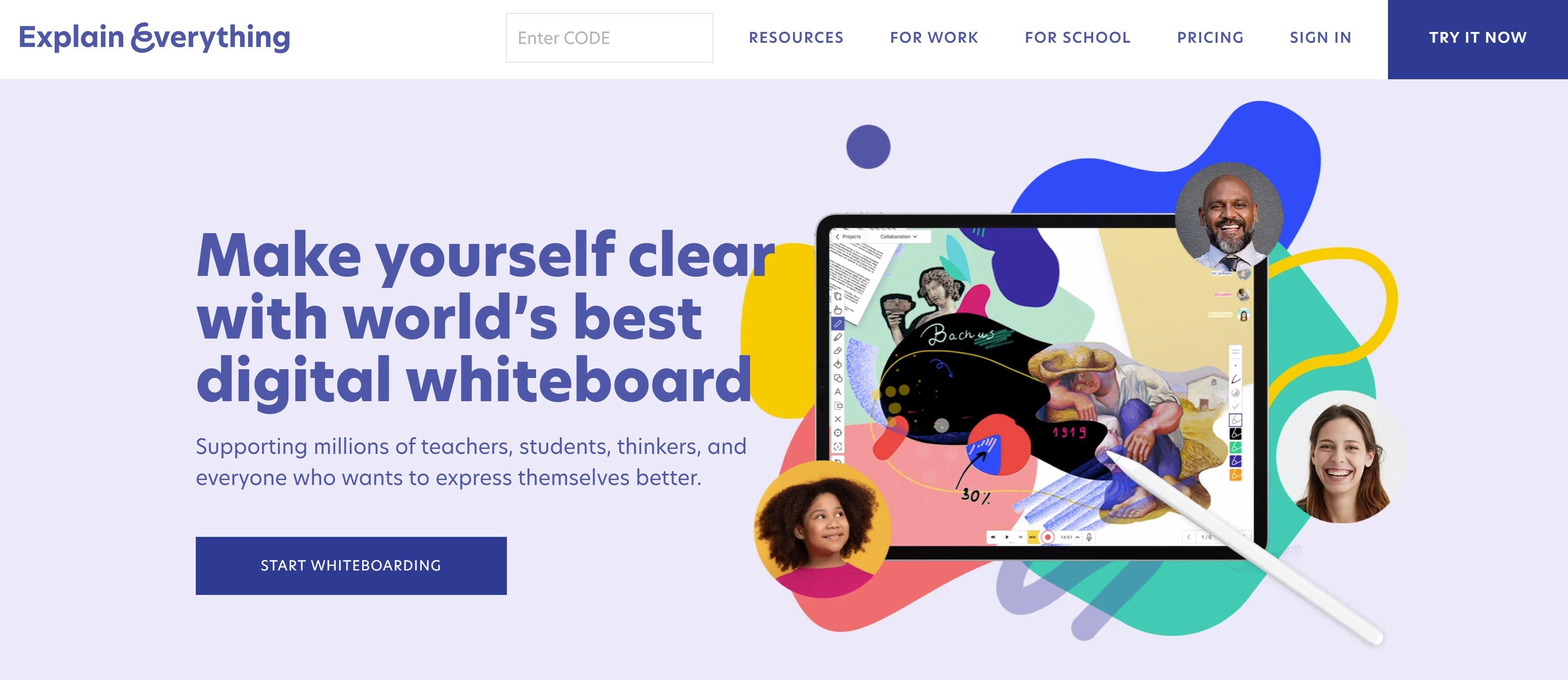 explain everything - Virtual whiteboarding