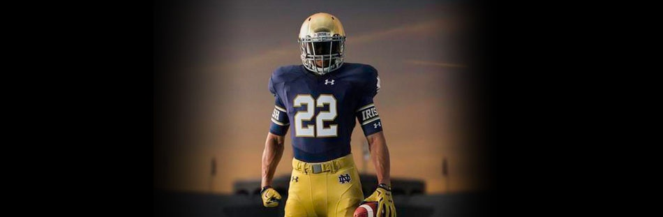 NOTRE DAME FOOTBALL UNIFORMS