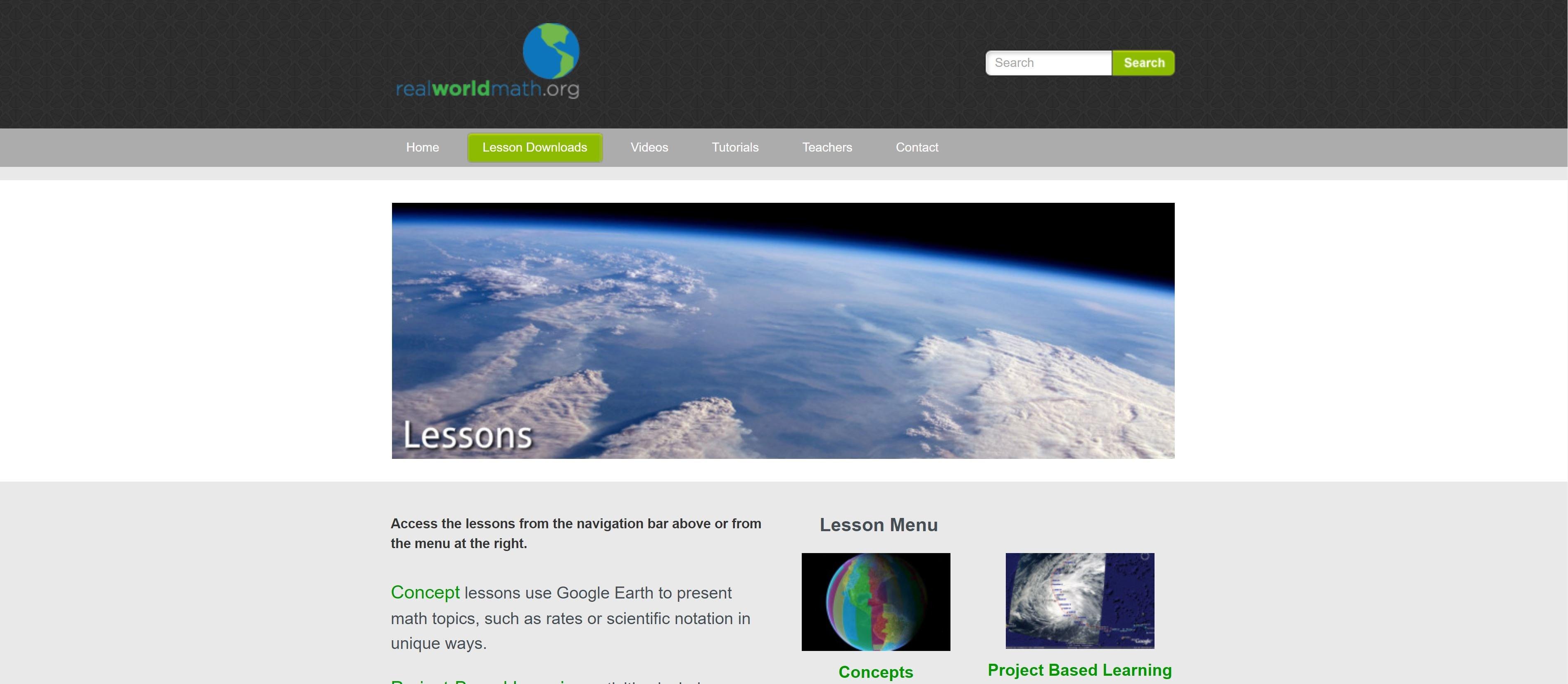 RealWOrldMath - Use Google Earth for Math