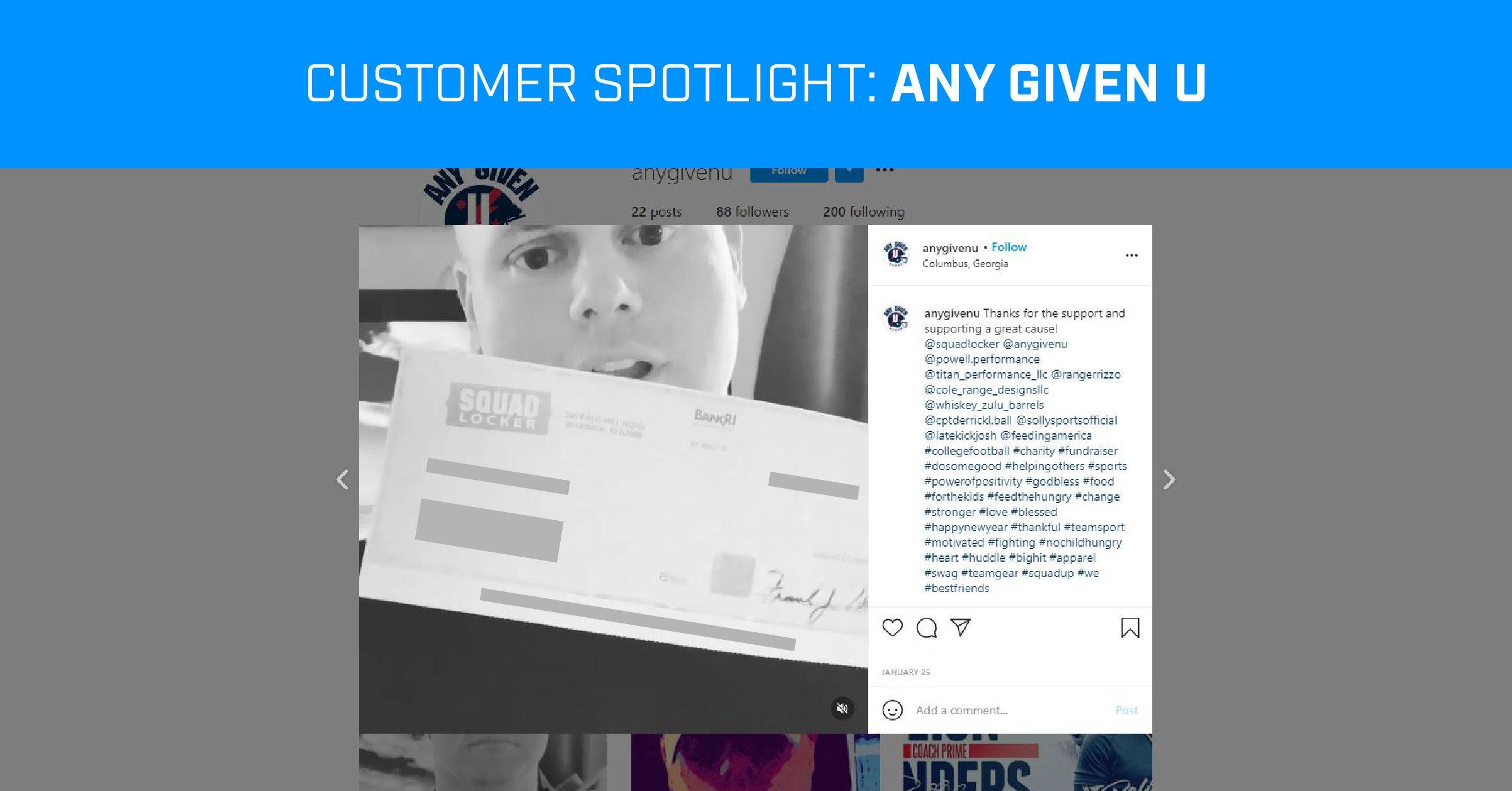 Customer Spotlight - Any Given U