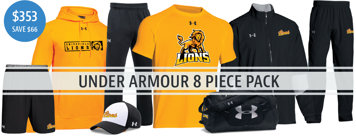 Under Armour 8 Piece Gear Pack