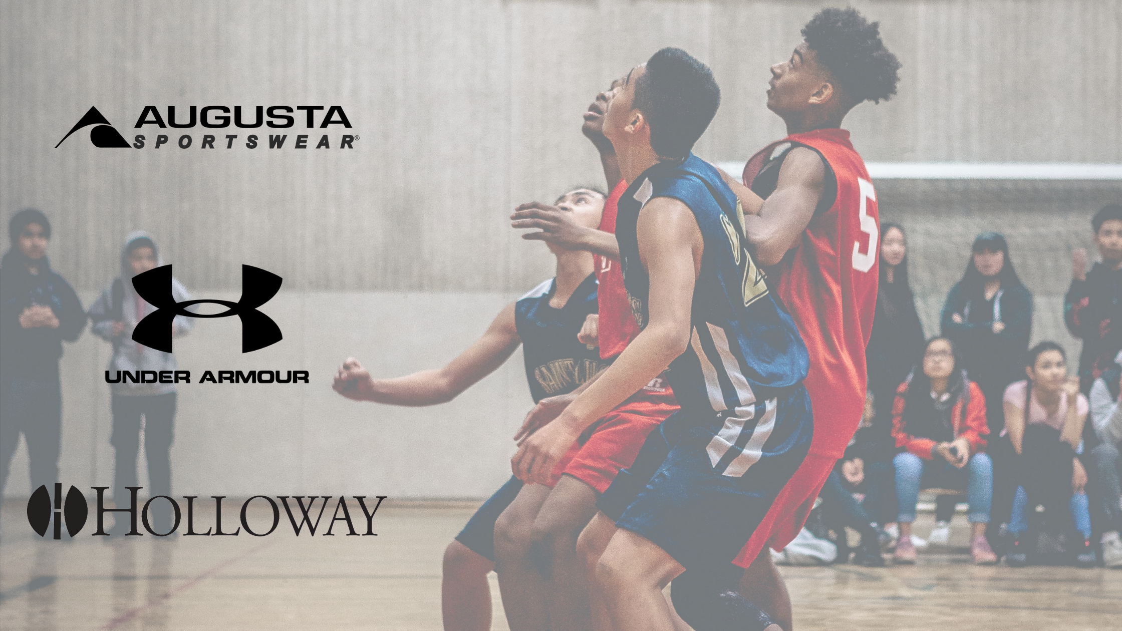 Brands for basketball - Augusta, Under Armour, Holloway
