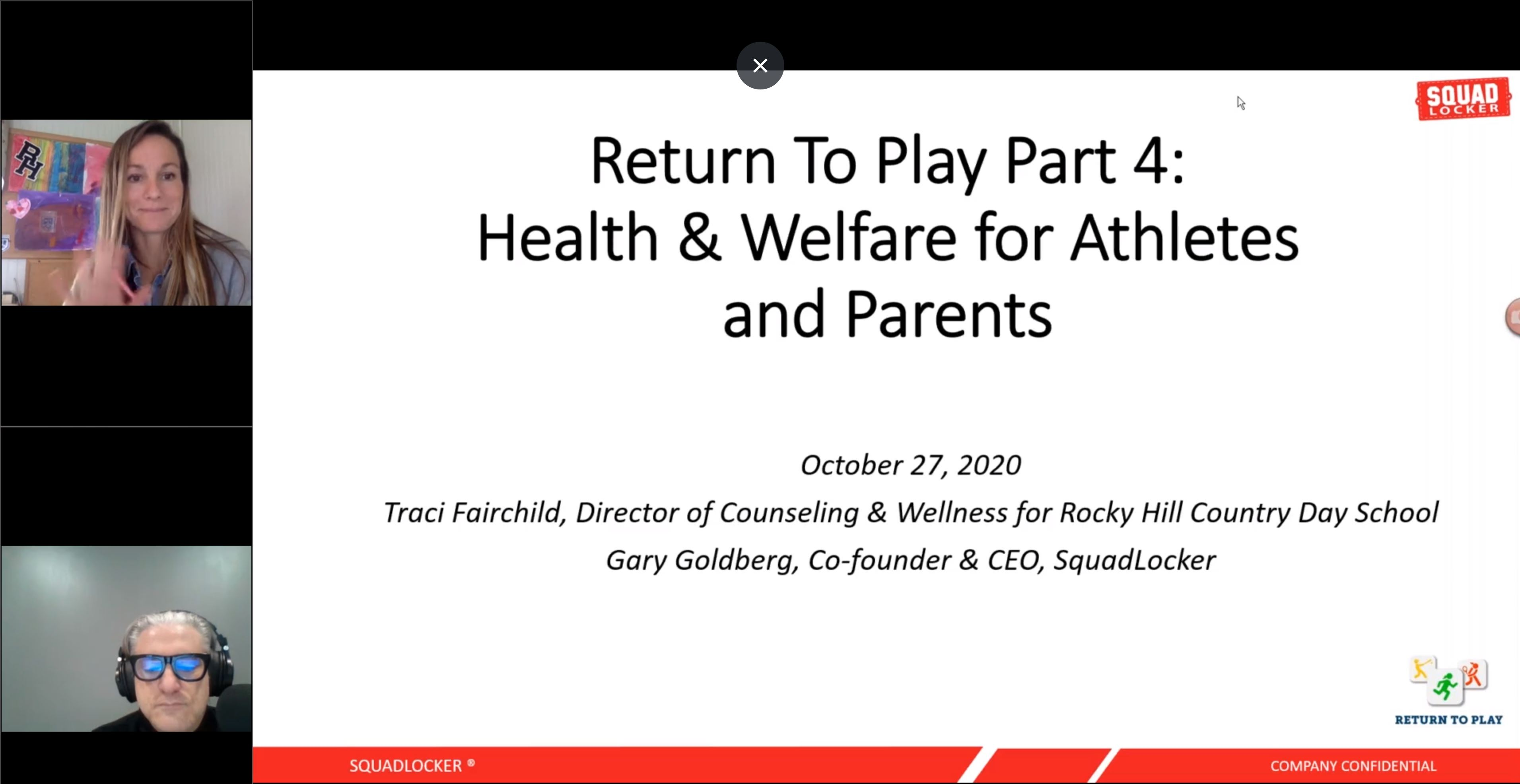 Return to Play Webinar - Part 4 : Health & Welfare for Athletes and Parents